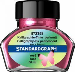 Caligrafie Cerneala perlata caligrafie roz Standardgraph 30 ml