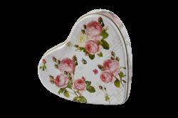 Set 2 cosuri din iarba de mare pentru depozitare  Cutie metal inima Romantic Roses