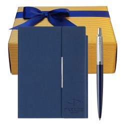 Set pix Parker Jotter Royal blue cu notes B6