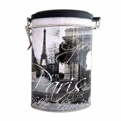 Cutii cadouri Cutie metal ovala Paris cu mecanism inchidere