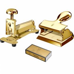 Cadouri Business Set capsator  & perforator Gold El Casco