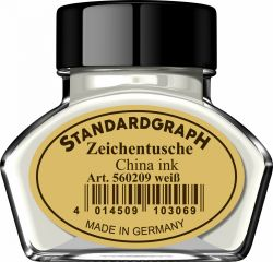 Instrumente de scris Tus calimara Standardgraph White 30ml