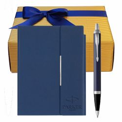 Cadouri Business Set pix IM Parker blue cu notes B6