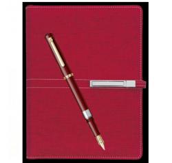 Seturi instrumente de scris Stilou 419 Scrikss burgundy cu agenda A5