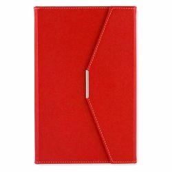 Agende nedatate Agenda plic A5 cu decupaj si suport pix rosu