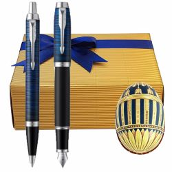 Cadouri Business Set Paste Parker IM Blue cu ou Faberge