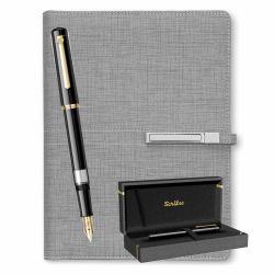 Seturi instrumente de scris Stilou 419 Scrikss negru cu organizer A5