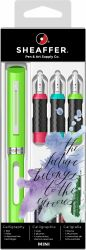 Instrumente de scris Set Sheaffer Mini Caligrafie 4 piese Lime Green