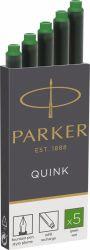 Instrumente de scris Cartus Parker Quink Standard verde permanent