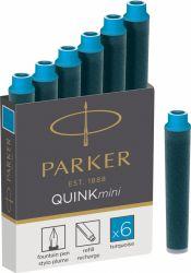 Instrumente de scris Cartus Parker Quink Mini turcoaz permanent
