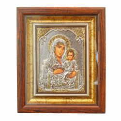 Botez Icoana Maica Domnului cu Pruncul Jerusalem argint