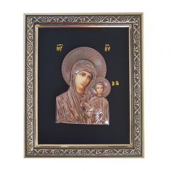 Icoana argint pietre Sfanta Familie Icoana Maica Domnului cu Pruncul bronz