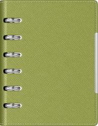 Cadouri Business Agenda organizer A6 cu 6 inele verde deschis
