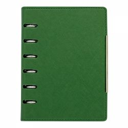 Agende nedatate Agenda organizer A6 cu 6 inele verde inchis