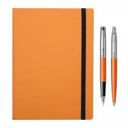 Cadouri Sarbatori  Set Parker stilou si pix Jotter orange cu agenda