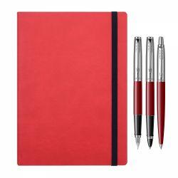 Seturi instrumente de scris Set 3 instrumente Parker rosu cu notes cadou