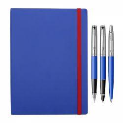 Seturi instrumente de scris Set 3 instrumente Parker albastru cu notes cadou