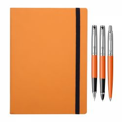 Cadouri Business Set 3 instrumente Parker orange cu notes cadou