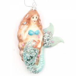 Ornament pentru bradul de Craciun stea aurie  Ornament pentru bradul de Craciun Sirena