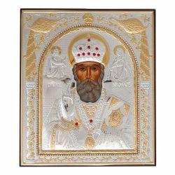 Nunta si Botez Icoana Sfantul Nicolae metal pietre