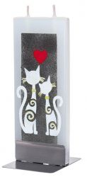 Valentine's day Lumanare plata pictata cat love Flatyz