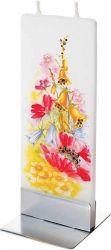 Decoratiuni Lumanare plata pictata flori salbatice Flatyz