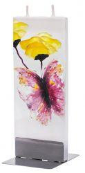 Decoratiuni Lumanare plata pictata fluture cu bujor Flatyz