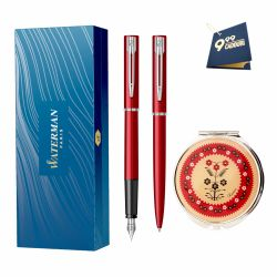 Instrumente de scris Set Waterman Allure stilou si pix rosu