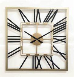 Decoratiuni casa Ceas de perete patrat din metal 60x60x4,5 cm