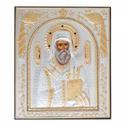 Icoana Maica Domnului Ierusalim Icoana metal-pietre Sfantul Nectarie