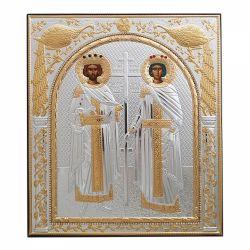 Botez Icoana Sfintii Constantin si Elena metal pietre