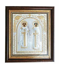 Botez Icoana argintata in rama Sfintii Constantin si Elena