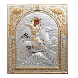 Botez Icoana argint pietre Sfantul Gheorghe