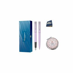 Set Parker stilou si pix Jotter negru cu agenda Set Waterman Allure purple