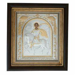 Nunta si Botez Icoana argint Sf.Dumitru rama 29x31