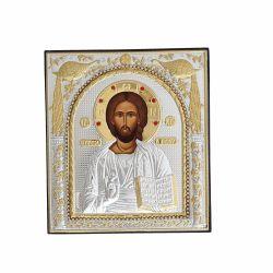 Icoana Maica Domnului Ierusalim Icoana argintata-pietre Iisus Pantocrator