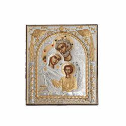 Botez Icoana argint pietre Sfanta Familie