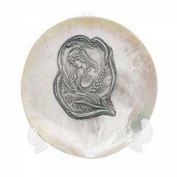 Botez Placheta argint zodia FECIOARA pe scoica perlifera