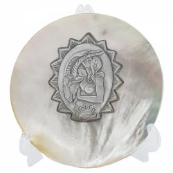 Vaza Isthmus Selangor 12 x 20 cm Placheta argint zodia CAPRICORN pe scoica perlifera