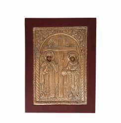 Botez Icoana argint aurit Sintii Constantin si Elena
