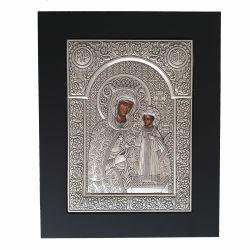 Icoana Maica Domnului Ierusalim Icoana argint Maica Domnului cu Pruncul