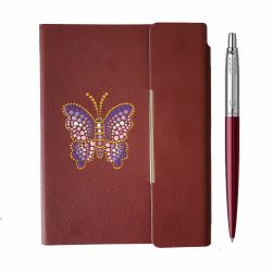 Seturi  Set Parker Jotter purple cu notes pictat manual