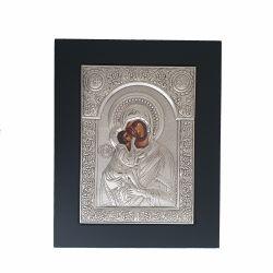 Icoana argint pietre Sfanta Familie Icoana argint Maica Domnului cu Pruncul