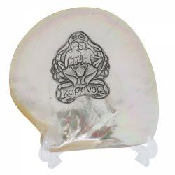Decoratiuni Placheta argint zodia RAC pe scoica perlifera