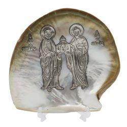 Nunta si Botez Icoana argint pe scoica Petru si Pavel