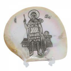 Botez Icoana argint pe scoica sfantul Dumitru