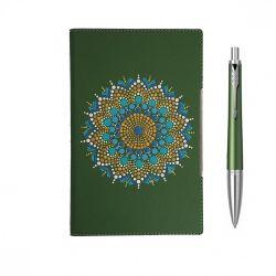 Seturi instrumente de scris Set Parker pix Urban verde cu agenda pictata manual