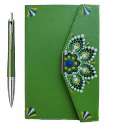 Cadouri Business Set Parker pix Urban verde cu agenda pictata manual