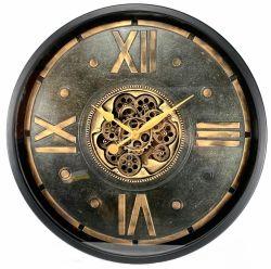 Ceas de perete cu mecanism Skeleton si geam 52,5x8,5 cm Ceas de perete metal si sticla 80 cm