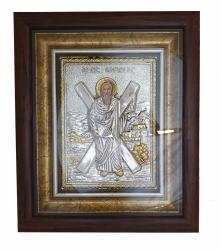 Icoana Maica Domnului Ierusalim Icoana Argint in Rama Sf.Andrei